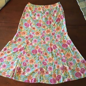 NWT Christopher & Banks Floral Maxi Skirt